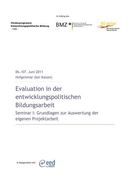 Evaluation in der entwicklungs-politischen Bildungsarbeit - ELAN