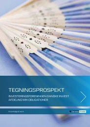 tegningsprospekt og vedtægter - Danske Invest