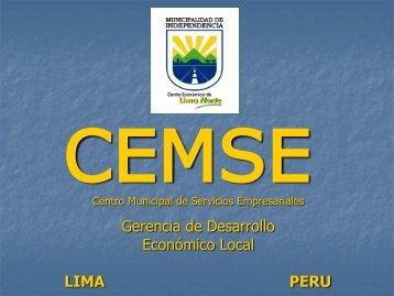 Gerencia de Desarrollo Económico Local LIMA PERU