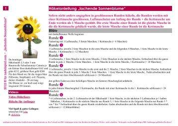 PDF-Download * Häkelanleitung * lachende ... - Nadelspiel