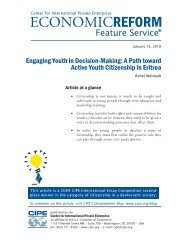Engaging Youth in Decision-Making - Center for International ...