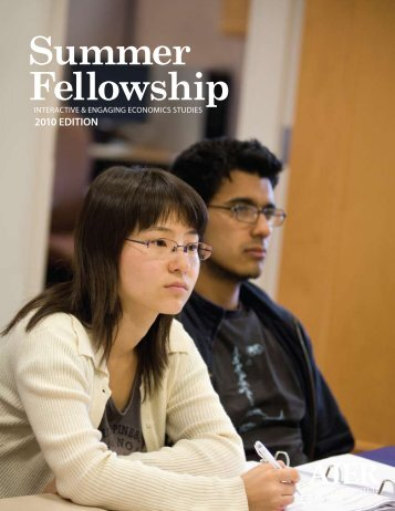 2010 Summer Fellowship Newsletter - American Institute for ...