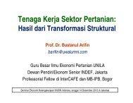 Tenaga Kerja Sektor Pertanian: - Kadin Indonesia
