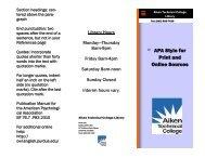 APA Brochure - Aiken Technical College