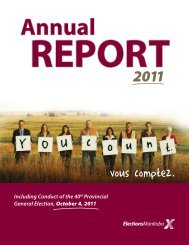 Annual REPORT - Elections Manitoba