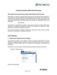 Guía Trimble Geomatics Office - Runco