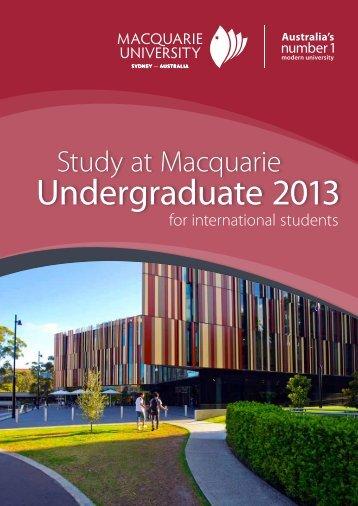 Undergraduate 2013 - Courses - Macquarie University