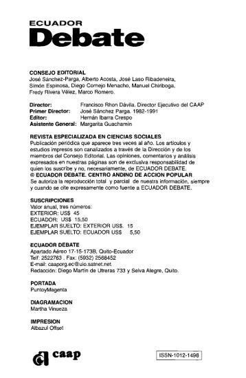Modelo minero, resistencias sociales y estilos de ... - Flacso Andes