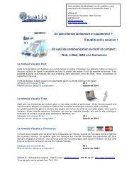 Un site Internet facilement et rapidement ? Visualis est la solution ...