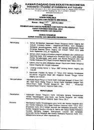 KAMAR DAGANG DAN INDUSTRI INDONESIA - Kadin Indonesia