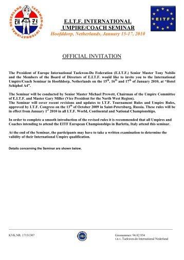 Umpires for li ning romanian international 2013 official official invitation eitf international umpirecoach seminar stopboris Images