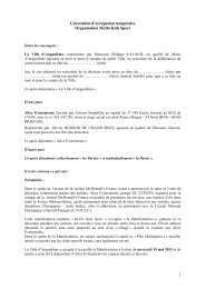 Convention d'occupation temporaire Organisation ... - Angoulême