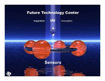 FTC - Presentation on Sensors - Future Technology Center