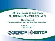 RDT&E Progress and Plans for Hexavalent Chromium (Cr6+) - E2S2