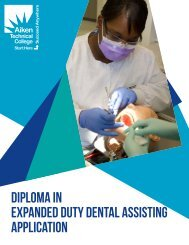 Expanded Duty Dental Assisting - Aiken Technical College