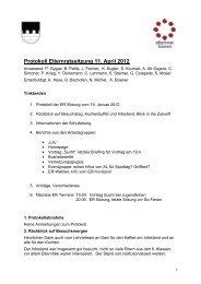 Protokoll Elternratssitzung 11. April 2012