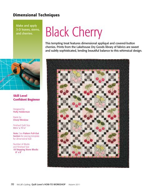 to download the FREE Black Cherry quilt pattern. - McCalls Quilting