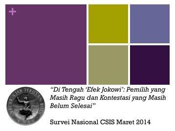 Survei Nasional CSIS Maret 2014