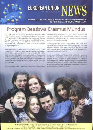 Program Beasiswa Erasmus Mundus - Kadin Indonesia