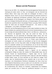 Bienen und die Pharaonen - Bienenzuchtverein Sulzbach ...