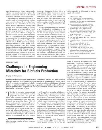 Challenges in Engineering Microbes for Biofuels Production