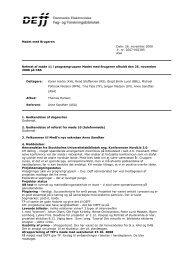 Referat af møde 11 i MmB - DEFF