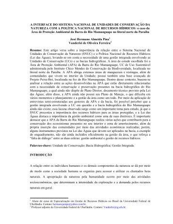 A INTERFACE DO SISTEMA NACIONAL DE ... - Claudio Di Mauro