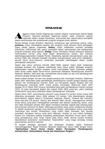 KATA PENGANTAR DARI KETUA UMUM KADIN INDONESIA