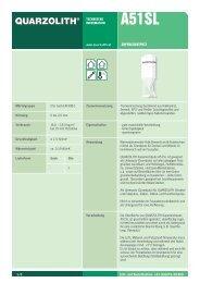SUPERLEICHTPUTZ TECHNISCHE INFORMATION - Quarzolith