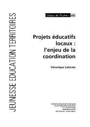 Projets éducatifs locaux : l'enjeu de la coordination - Injep