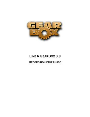 GearBox 3 - Recording Setup Guide - Line 6