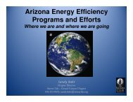 Arizona Energy Efficiency Programs and Efforts - Arizona Sierra Club
