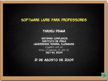 Software Livre para Professores - UFF