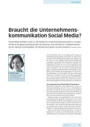 Braucht die Unternehmens- kommunikation Social Media? - Hostpoint