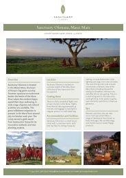 Download fact sheet0.5mb - Sanctuary Retreats