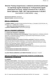Pobierz ogłoszenie (PDF 230 kB) - Dolnośląski Ośrodek Doradztwa ...