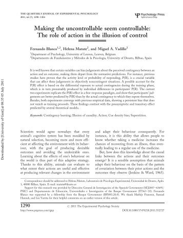 uncontrollable and controllable variance By a two-factor analysis of variance (anova) with repeated measures (condi-  tion [uncontrollable versus controllable stress] by time) with repeated measures.