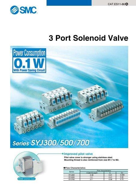 SMC 3-Way Air Valve W//Base SYJ314R-5LOZ-M5