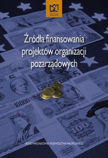 Źródła finansowania projektów organizacji pozarządowych