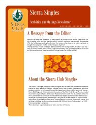 Sierra Singles - Arizona Sierra Club