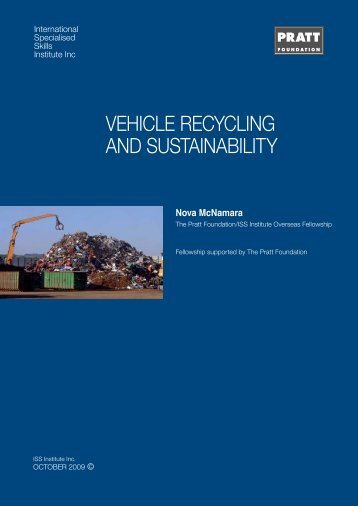 vehicle recycling and sustainability - International Specialised Skills ...