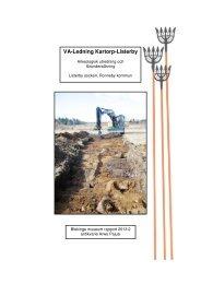 VA-Ledning Kartorp-Listerby - Blekinge museum