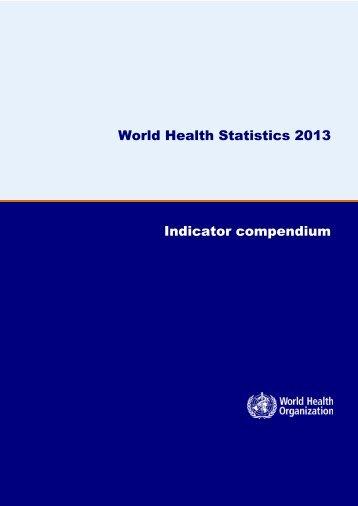 WHS2013_IndicatorCompendium