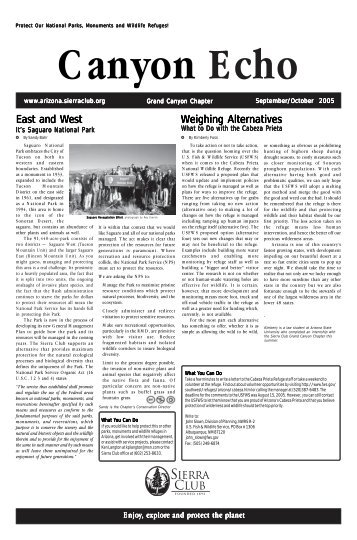 Sep/Oct 2005 (404 KB pdf) - Arizona Sierra Club