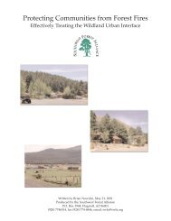 Protecting Communities from Forest Fires - Arizona Sierra Club