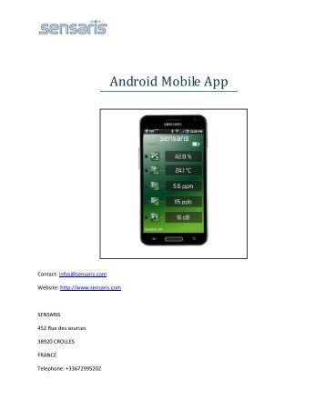 Android Mobile App - Sensaris