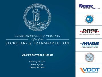 2009 Performance Report - Commonwealth Transportation Board