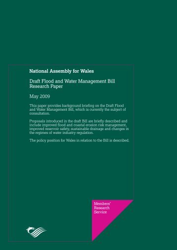 Draft Flood and Water Management Bill - National Assembly for Wales