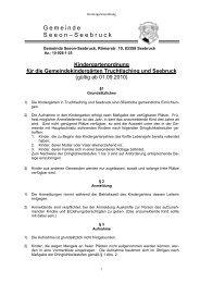 Kindergartenordnung für die - Seeon - Seebruck