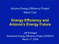 Southwest Energy Efficiency Project (SWEEP) - Arizona Sierra Club